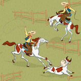 zachodni dziki ilustracja wektor