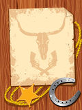 zachodni elementu kowbojski życie Obraz Royalty Free