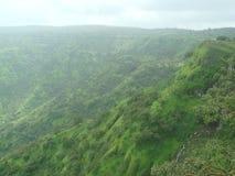 Zachodni Ghats w Panchgani India widoku obrazy royalty free