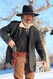 Zachodni Gunslinger fotografia royalty free