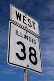 Zachodni Hwy 38 znak zdjęcie royalty free