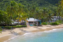 Zachodni Indies, Karaiby, Antigua, St Johns, Hawksbill zatoka & plaża, Zdjęcia Royalty Free