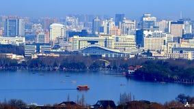 zachodni jeziorna Hangzhou sceneria Zdjęcia Stock
