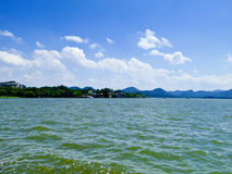 Zachodni Jeziorny Kulturalny krajobraz Hangzhou obraz stock