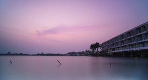 zachodni jeziorny zmierzch zdjęcia royalty free