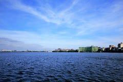 Zachodni jezioro jest wielkim jeziorem w Hanoi zdjęcia royalty free