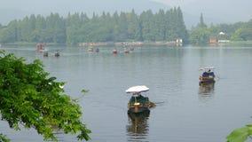 Zachodni jezioro z łodziami w lecie Zdjęcia Royalty Free