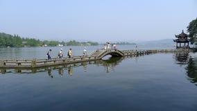 Zachodni jezioro z kamienia mostem Obraz Royalty Free