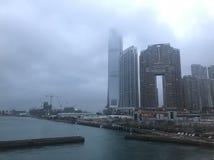 Zachodni Kowloon pod widocznością stosunkowo obrazy royalty free
