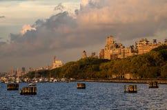 Zachodni Manhattan zmierzch Zdjęcie Royalty Free