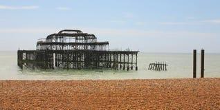 Zachodni Molo, Brighton, Anglia Zdjęcia Royalty Free