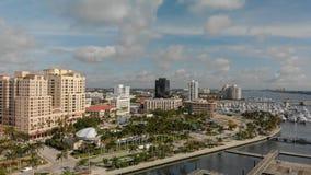 ZACHODNI palm beach FL, KWIECIEŃ, - 10, 2018: Powietrzna linia horyzontu Palmowy Bea Zdjęcie Stock