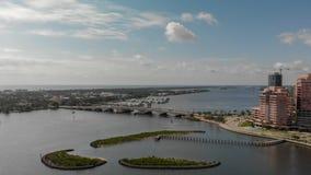 ZACHODNI palm beach FL, KWIECIEŃ, - 10, 2018: Powietrzna linia horyzontu Palmowy Bea Zdjęcia Stock