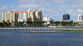 Zachodni palm beach w Floryda zdjęcia stock