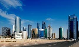 Zachodni Podpalany okręg Doha, Katar Zdjęcia Stock