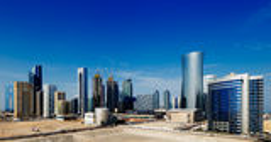 Zachodni Podpalany okręg Doha, Katar Zdjęcia Royalty Free