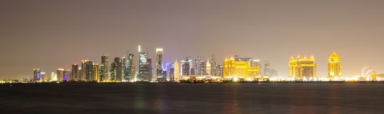Zachodni Podpalany teren Doha, Katar zdjęcie royalty free