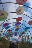 Zachodni przepustki shilin scenicznego terenu kwiatu parasola korytarz obrazy royalty free