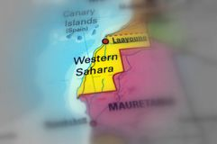 Zachodni Sahara, Afryka - Zdjęcie Stock