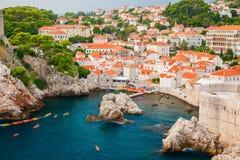 Zachodni schronienie blisko starego miasteczka w Dubrovnik obrazy stock