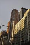 Zachodni St Manhattan drapacz chmur od Miasto Nowy Jork w Stany Zjednoczone Obraz Stock