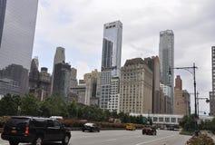 Zachodni St Manhattan drapacz chmur od Miasto Nowy Jork w Stany Zjednoczone Obraz Royalty Free