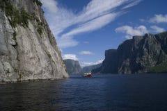 Zachodni strumyka stawu Fjords Obraz Royalty Free