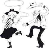 Zachodni taniec royalty ilustracja