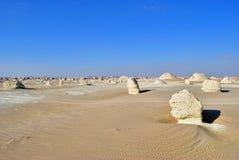Zachodnia biel pustyni sceneria Sahara, Egipt fotografia royalty free