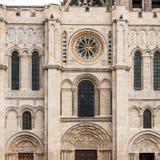 Zachodnia fasada bazylika święty Denis Paris france zdjęcia stock