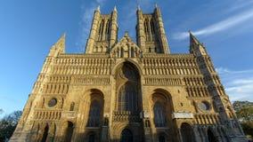 Zachodnia fasada Lincoln katedra Obrazy Royalty Free