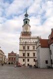 Zachodnia fasada Poznański urząd miasta Zdjęcia Stock