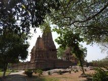 Zachodnia grupa Khajuraho świątynie na jasnym dniu, Madhya Pradesh India jest UNESCO światowego dziedzictwa miejscem, znać dla Ka obraz royalty free
