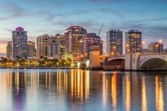 Zachodnia palmy plaża, Floryda, usa zdjęcia royalty free