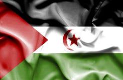Zachodnia Sahara falowania flaga ilustracja wektor