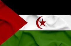 Zachodnia Sahara falowania flaga royalty ilustracja