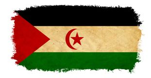 Zachodnia Sahara Grunge flaga ilustracja wektor