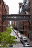 Zachodnia 15 Skybridge ulica, Miasto Nowy Jork Obrazy Stock