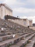 Zachodnia strona zlikwidowana główna trybuny lewa strona poprzednie Nazistowskiego przyjęcia wiecu ziemie Fotografia Stock