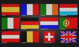 Zachodnich Europ flaga robić bąble Obrazy Royalty Free