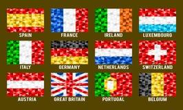 Zachodnich Europ niskie poli- flaga Fotografia Royalty Free