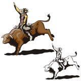 Zachodnie ilustracyjne serie zdjęcie royalty free