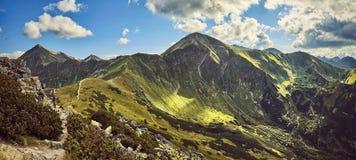 Zachodnie Tatras góry, widok od Ornak Fotografia Royalty Free