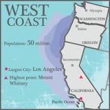 Zachodnie Wybrzeże royalty ilustracja