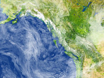 Zachodnie wybrzeże Kanada na planety ziemi ilustracja wektor