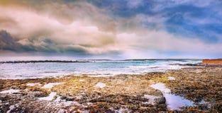 Zachodnie wybrzeże Irlandia na burzowym wiosna dniu Zdjęcie Royalty Free