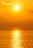 zachodzącego słońca Zdjęcie Stock