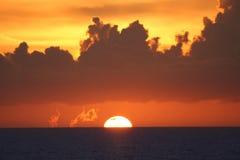 zachodzącego słońca Zdjęcia Stock