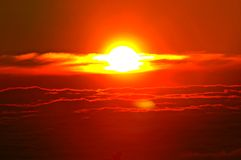 zachodzącego słońca Fotografia Stock