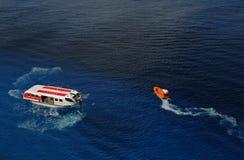 zachowań załoga drilll zbawczy statek Zdjęcie Royalty Free